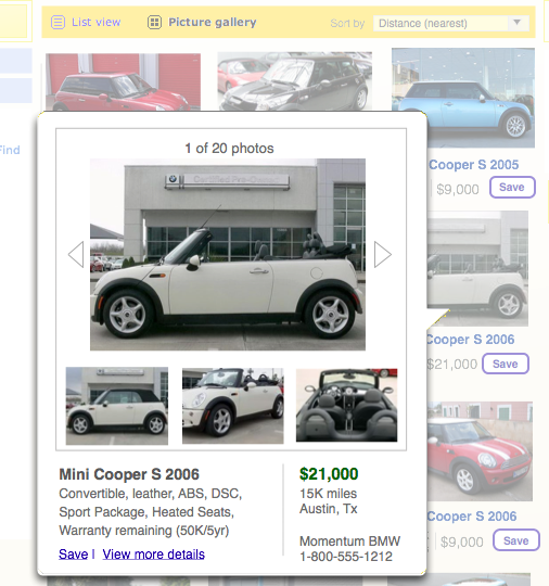 CarMax Click Details