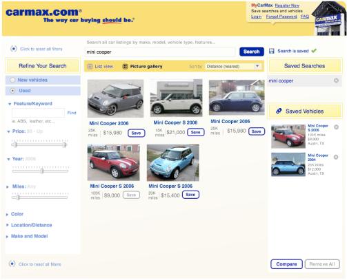CarMax Refine and Save