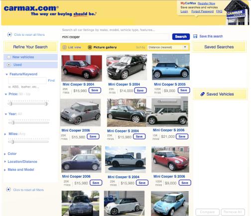 CarMax Search Results