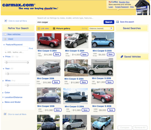 CarMax Search Results